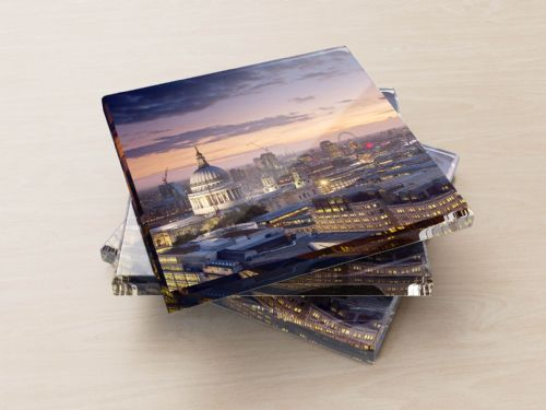 St Paul's Sunset - Glass Coasters
